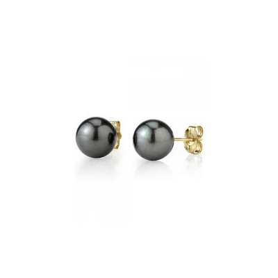 Dark pearl earrings