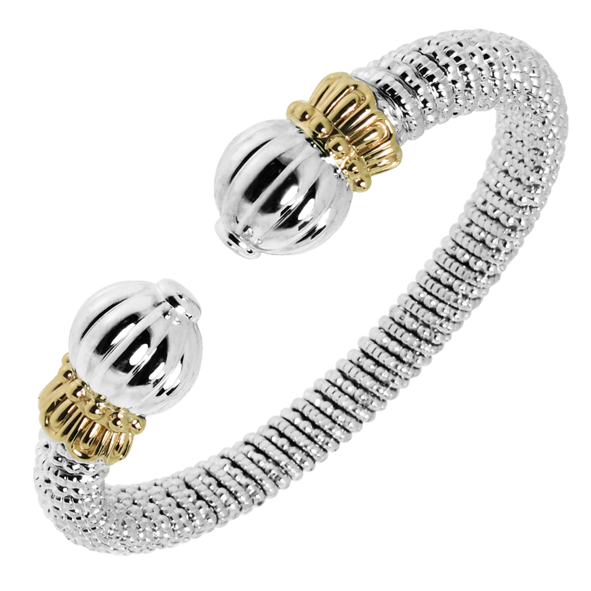 Mixed metal bracelet from Bennion Jewelers