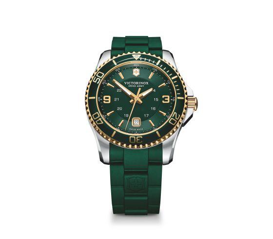Green Victorinox watch from Bennion Jewelers