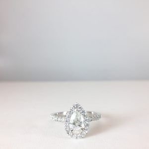Teardrop engagement ring - Bennion Jewelers