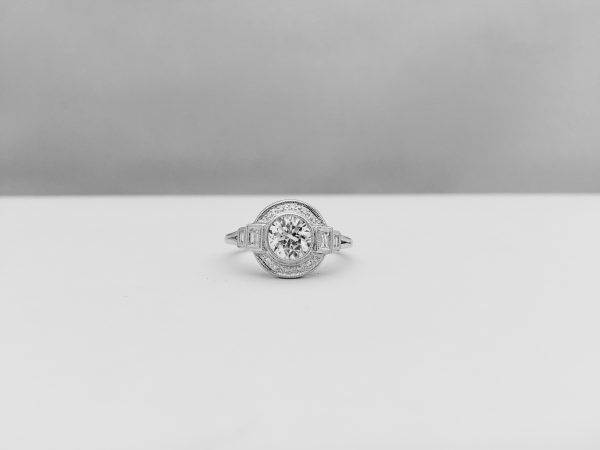 Circle cut ring from Bennion Jewelers
