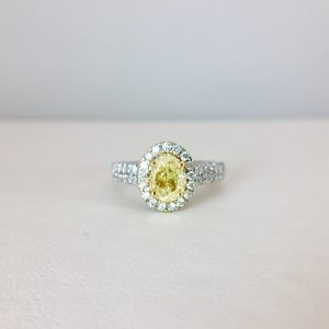 Yellow stone engagement ring