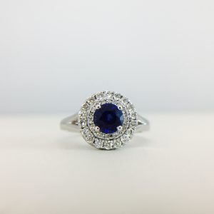 Sparkle - Blue and silver rings