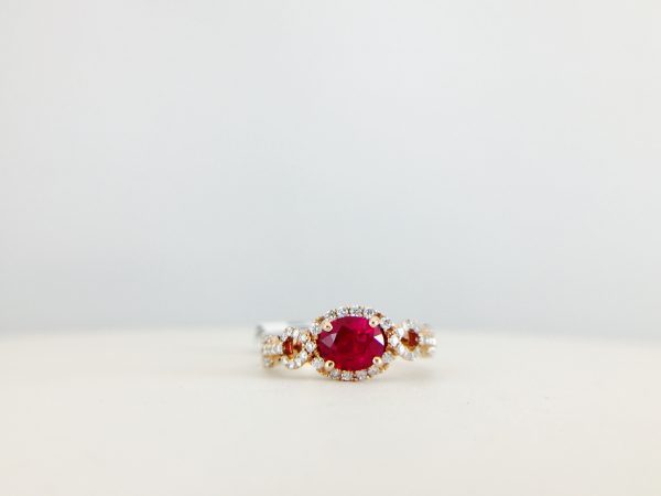 Red ring from Bennion Jewelers