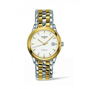 Silver and gold Longines watch for men