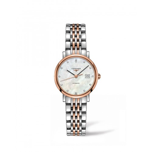 Bennion Jewelers silver and rose gold Longines