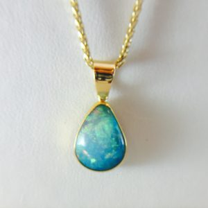 Opal pendant necklace from Bennion Jewelers