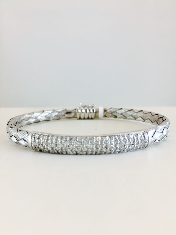 white gold - woven bracelet - pace diamonds