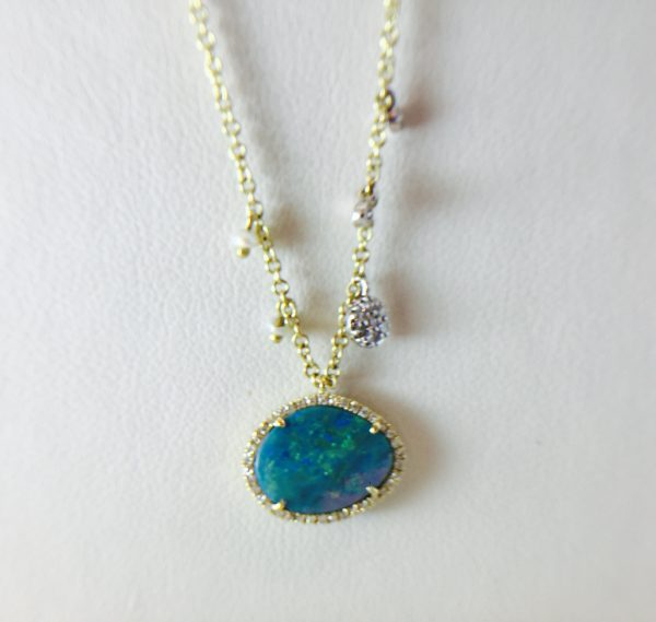 Opal slab pendant