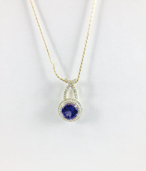 Pendant - Tanzanite - Diamond