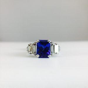 Bennion Jewelers offers Tanzanite and diamond rings