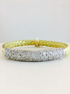 bangle - yellow gold - pave diamond
