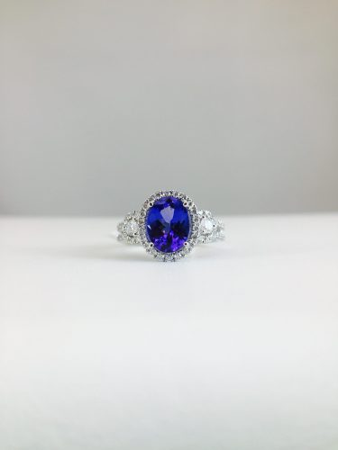 Diamonds and tanzanite pair well together