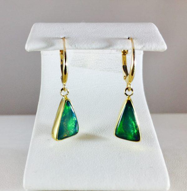 14k gold opal earring
