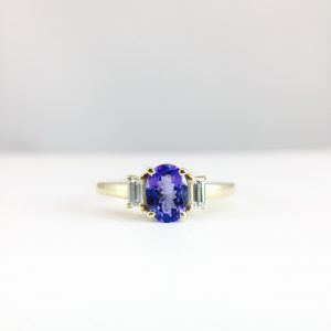 Diamond rings - Tanzanite