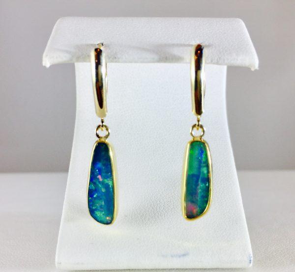Ethiopian opal earring