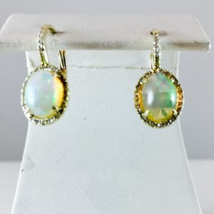 Opal pendant from Bennion Jewelers - 14k yellow gold