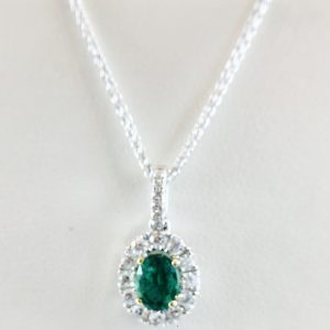 Bennion Jewelers - Diamond Halo and Emerald
