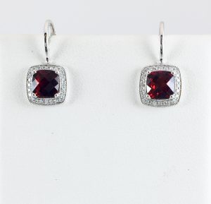 Go vintage with these garnet and diamond earrings