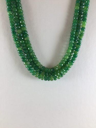 Bead 3 Strand Necklace - Emerald