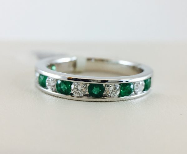 Bennion Jewelers offers Emerald and Diamond Anniversary Bands