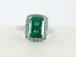 Check out the Emerald ring selection at Bennion Jewelers