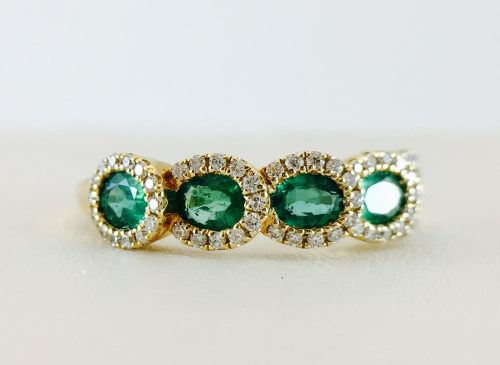 Bennion Jewelers - Rings - Diamonds and Emerald