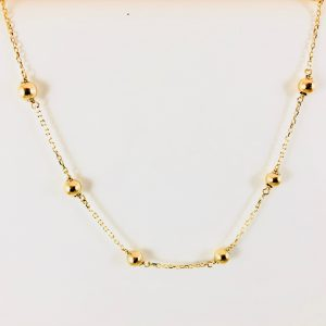 Bennion Jewelers - Gold bead necklace with chain