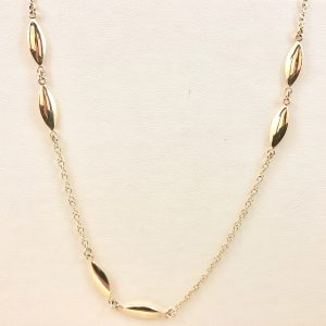 Double oval gold necklace