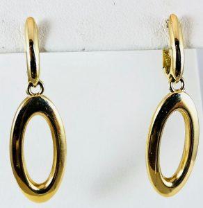 Open marquise earrings - gold