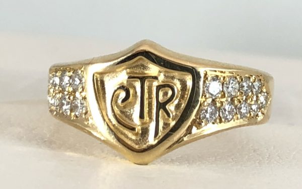 Ladies CTR ring - 14k yellow gold with diamonds