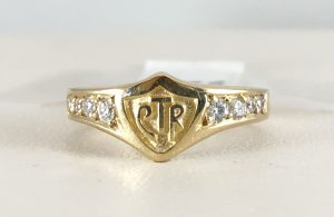 CTR diamond ring 14k gold