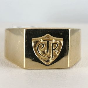 14k yellow gold - mens CTR ring