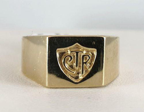 14k yellow gold - mens CTR ring